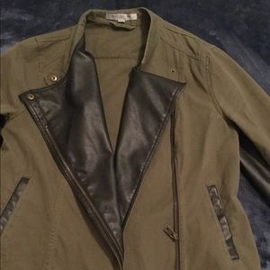Andrew Marc army green motto jacket